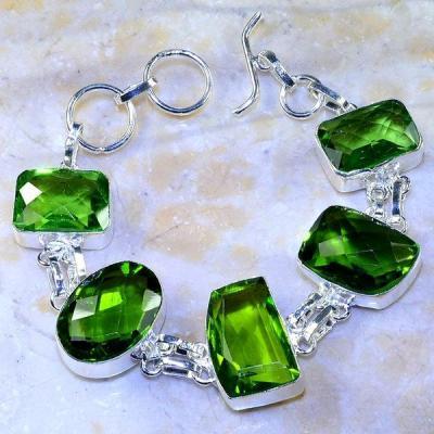 Per 349a bracelet peridot quartz argent 925 achat vente