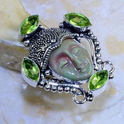 Per 362b bague t52 bouddha peridot steampunk gothique elfique bijou argent 925 achat vente