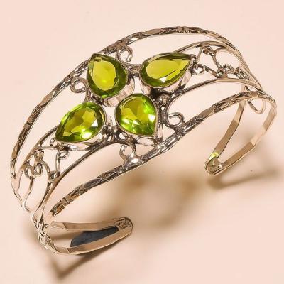 Per 363a bracelet peridot quartz argent 925 achat vente bijou