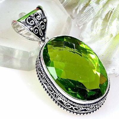 Per 383a pendentif pendants peridot quartz argent 925 achat vente bijou