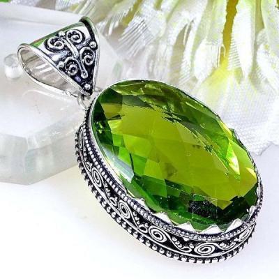 Per 384a pendentif pendants peridot quartz argent 925 achat vente bijou