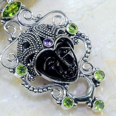 Per 386c pendentif pendants peridot bouddha gothique argent 925 achat vente bijou 1