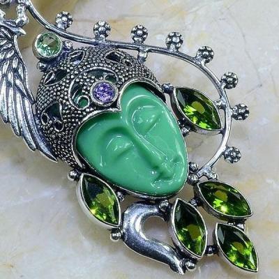 Per 387c pendentif pendants peridot bouddha gothique argent 925 achat vente bijou