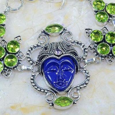 Per 391c bracelet peridot bouddha gothique argent 925 achat vente bijou