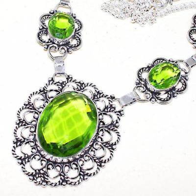 Per 396b collier parure sautoir peridot quartz argent 925 achat vente bijou