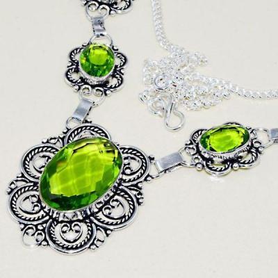Per 397b collier parure sautoir peridot quartz argent 925 achat vente bijou