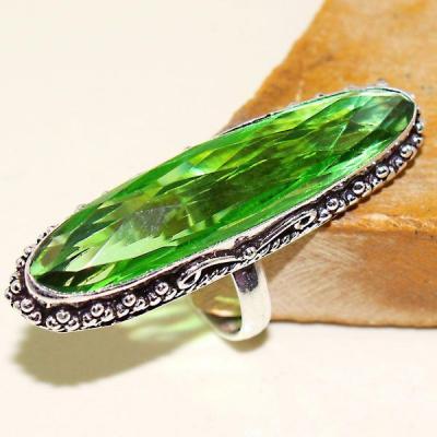 Per 399a bague t61 medievale peridot chevaliere quartz vert bijou argent 925 achat vente