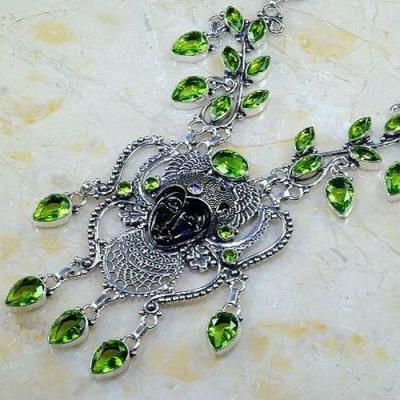 Per 509b collier parure peridot bouddha gothique argent 925 achat vente bijou 1