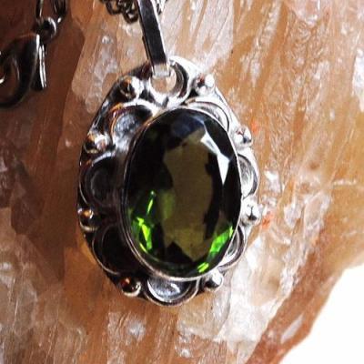 Per 511c collier sautoir pendentif peridot chaine 42cm achat vente bijou argent 925 1