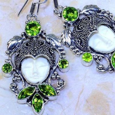Per 514c boucles oreilles bouddha peridot gothique achat vente bijou argent 925