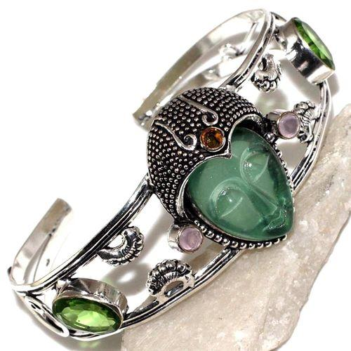 Per 518a bracelet torque bouddha peridot vert 1900 bijoux achat vente argent 925