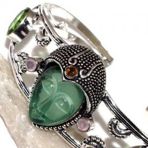 Per 518b bracelet torque bouddha peridot vert 1900 bijoux achat vente argent 925