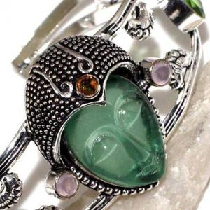 Per 518c bracelet torque bouddha peridot vert 1900 bijoux achat vente argent 925