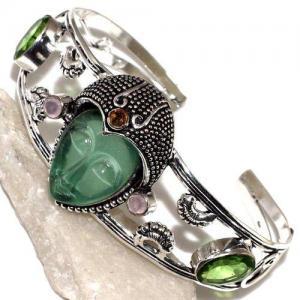 Per 518d bracelet torque bouddha peridot vert 1900 bijoux achat vente argent 925