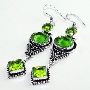 Per 521b boucles oreilles peridot gothique achat vente bijou argent 925