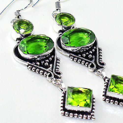 Per 521c boucles oreilles peridot gothique achat vente bijou argent 925