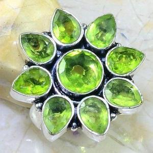 Per 533b bague t54 8x6mm peridot gothique achat vente bijou argent 925