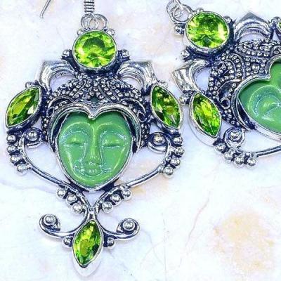 Per 534c boucles oreilles bouddha peridot gothique achat vente bijou argent 925