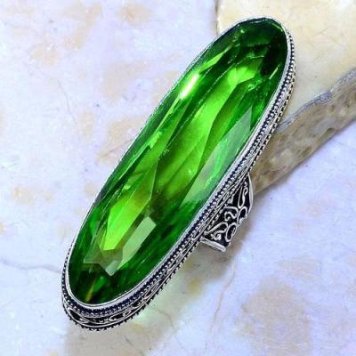 Per 539a bague t56 16x58mm peridot gothique achat vente bijou argent 925