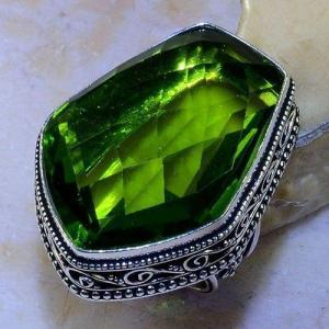 Per 543a bague t59 30x22mm peridot gothique achat vente bijou argent 925