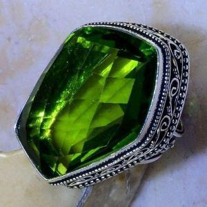 Per 543c bague t59 30x22mm peridot gothique achat vente bijou argent 925