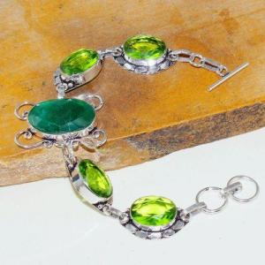 Per 545a bracelet emeraude peridot medieval achat vente bijou argent 925