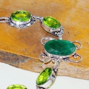 Per 545b bracelet emeraude peridot medieval achat vente bijou argent 925