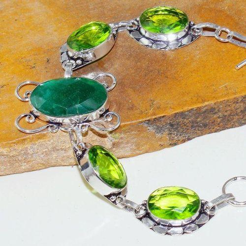Per 545c bracelet emeraude peridot medieval achat vente bijou argent 925