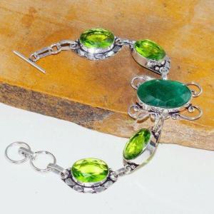 Per 545d bracelet emeraude peridot medieval achat vente bijou argent 925