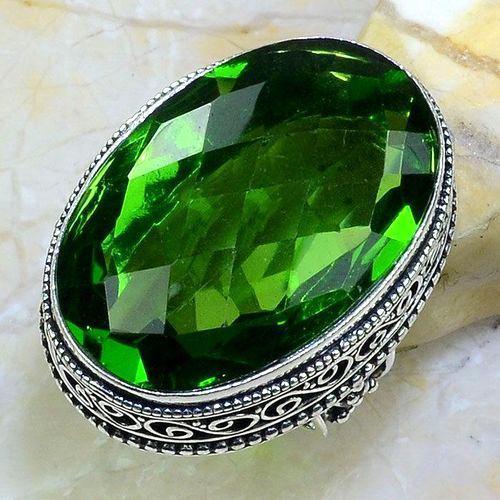 Per 548a bague t57 chevaliere 23x32mm peridot gothique achat vente bijou argent 925