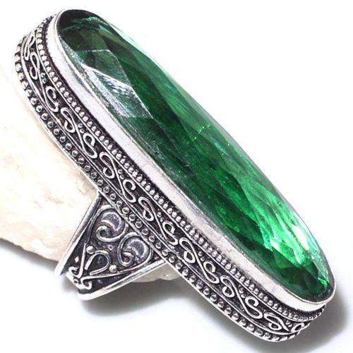 Per 551a bague t59 chevaliere 11x46mm peridot gothique achat vente bijou argent 925