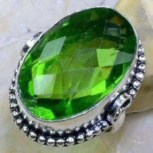 Per 555a bague t56 chevaliere 18x26mm peridot gothique achat vente bijou argent 925