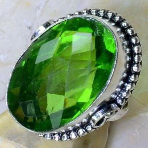 Per 555c bague t56 chevaliere 18x26mm peridot gothique achat vente bijou argent 925