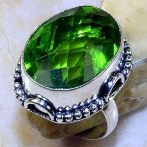 Per 561a bague t62 chevaliere 18x24mm peridot gothique achat vente bijou argent 925