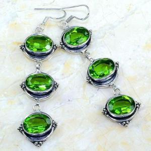 Per 580a boucles pendants oreilles peridot 10x15mm achat vente bijou argent 925