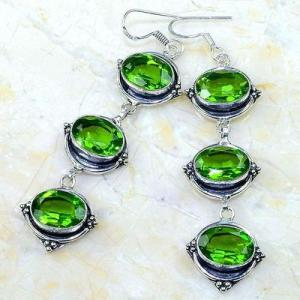 Per 580b boucles pendants oreilles peridot 10x15mm achat vente bijou argent 925