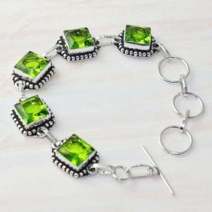 Per 607a bracelet peridot 18gr gothique achat vente bijou argent 925