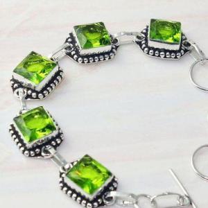 Per 607b bracelet peridot 18gr gothique achat vente bijou argent 925