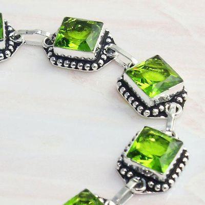 Per 607c bracelet peridot 18gr gothique achat vente bijou argent 925
