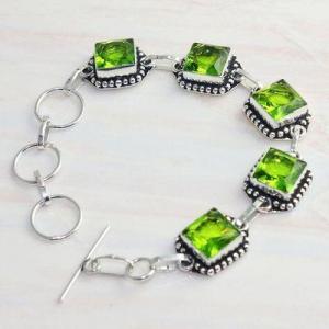 Per 607d bracelet peridot 18gr gothique achat vente bijou argent 925