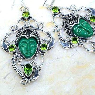 Per 617c boucles pendants oreilles bouddha peridot 30gr achat vente bijou argent 925