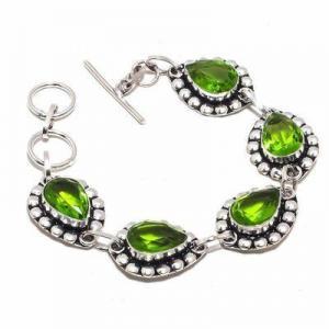 Per 649d bracelet peridot 18gr 10x15mm achat vente bijou ethnique argent 925