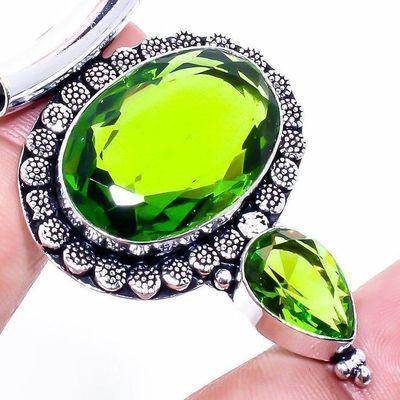 Per 650c pendentif pendantt peridot 18gr 18x28mm achat vente bijou ethnique argent 925