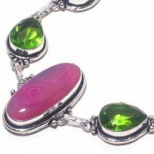 Per 674c bracelet peridot agate rose 26gr 10x15mm achat vente bijou ethnique argent 925