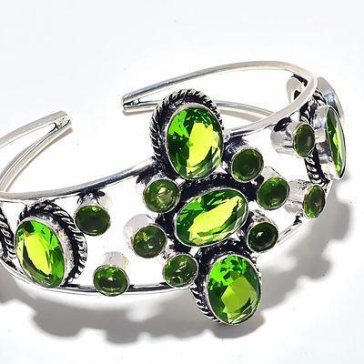 Per 677c bracelet peridot 37gr 10x15mm achat vente bijou ethnique argent 925