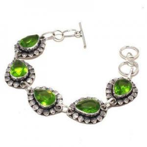 Per 684a bracelet peridot 21gr 10x15mm achat vente bijou ethnique argent 925