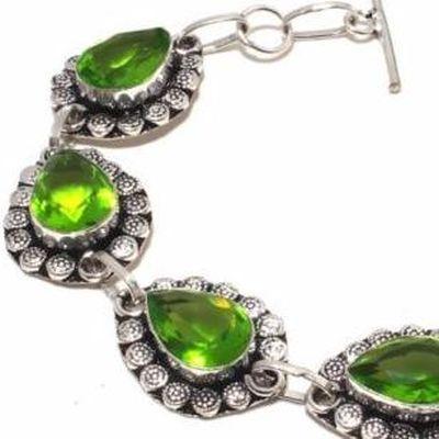 Per 684c bracelet peridot 21gr 10x15mm achat vente bijou ethnique argent 925