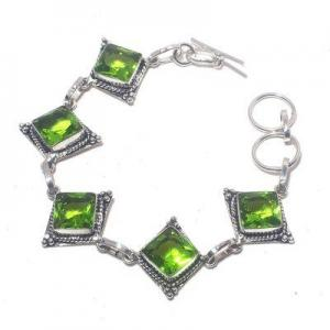 Per 690a bracelet peridot 17gr 10x10mm achat vente bijou ethnique argent 925