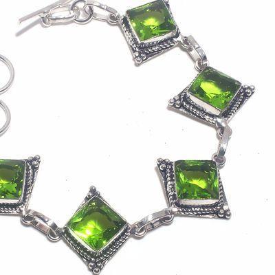 Per 690b bracelet peridot 17gr 10x10mm achat vente bijou ethnique argent 925