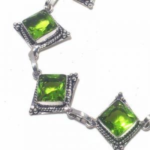Per 690c bracelet peridot 17gr 10x10mm achat vente bijou ethnique argent 925